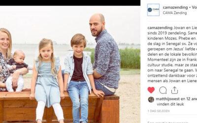 CAMA Zending op Instagram